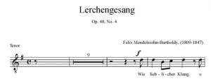 5. Lerchengesang Op. 48 No. 4 - SATB - tenor