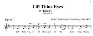 4. Lift Thine Eyes - SSA - sopran II