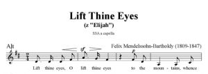 5. Lift Thine Eyes - SSA - alt