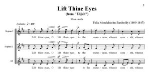 2. Lift Thine Eyes - SSA - partytura