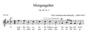 5. Morgengebet Op. 48, No. 5 - SATB - tenor