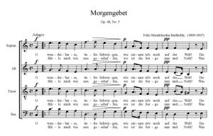 2. Morgengebet Op. 48, No. 5 - SATB - partytura