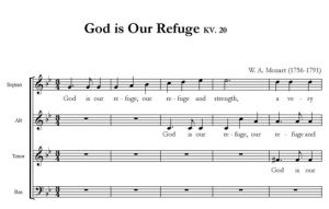 1. God is Our Refuge KV. 20 - SATB - partytura i głosy całość