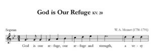 God is Our Refuge KV. 20 - SATB - sopran