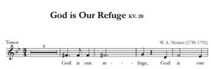 God is Our Refuge KV. 20 - SATB - tenor