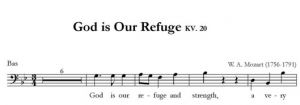 God is Our Refuge KV. 20 - SATB - bas