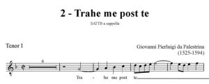 Trahe me post te - SATTB - tenor I